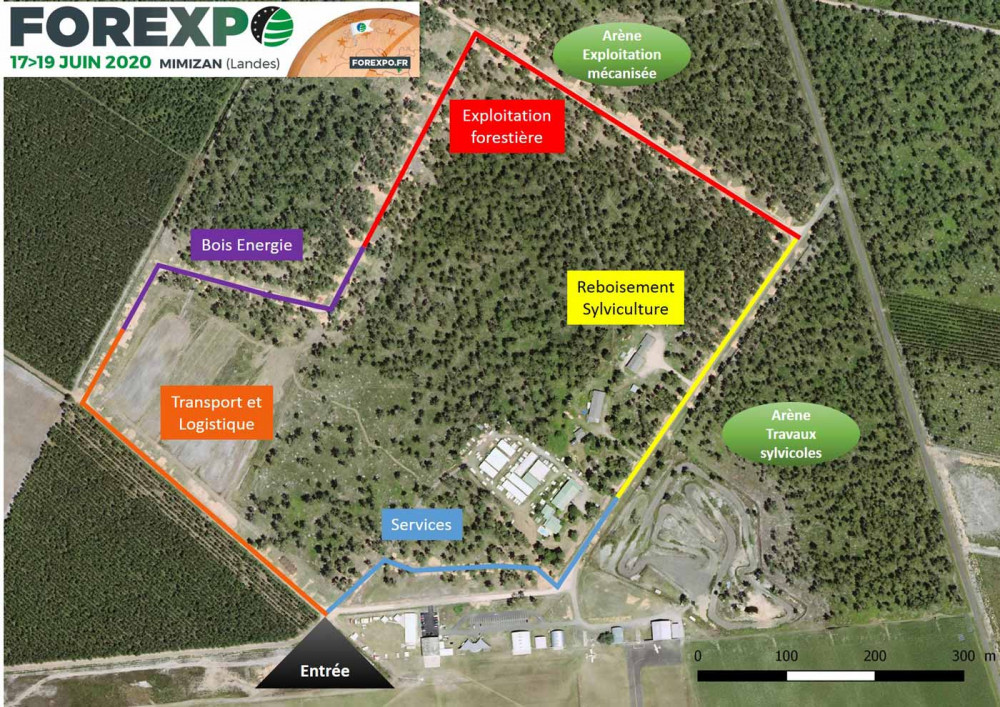 Zones d'exposition Forexpo 2020